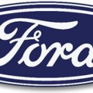 Long VINTAGE FORD OVAL HEAVY METAL SIGN