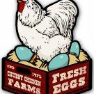Chicken Fresh Eggs Custom Metal Shape