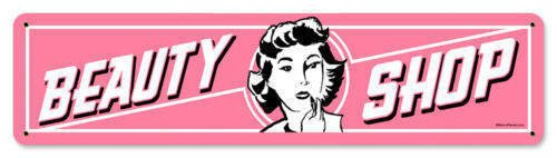 Beauty Shop HEAVY PINK METAL SIGN
