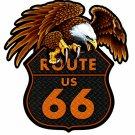 ROUTE 66 EAGLE Custom Metal Sign