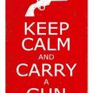 KEEP CALM CARRY GUN METAL SIGN