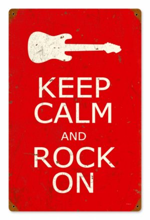 KEEP CALM ROCK ON METAL SIGN