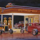 HOT ROD GAS STATION HEAVY METAL SIGN