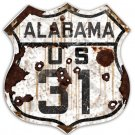 ALABAMA US 31 HEAVY METAL SIGN