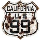 CALIFORNIA US 99 HEAVY METAL SIGN