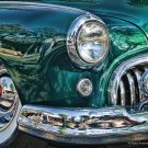 GREEN BUICK HEAVY METAL SIGN