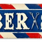 BARBER SHOP LONG METAL SIGN