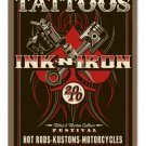 INK AND IRON HEAVY METAL SIGN