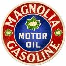 """MAGNOLIA GASOLINE ROUND METAL SIGN 14"""""""