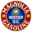 MAGNOLIA GASOLINE ROUND METAL SIGN
