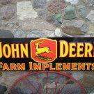 LARGE JOHN DEERE FARM IMPLEMENTS METAL SIGN