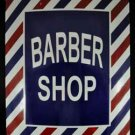 LARGE METAL BARBER SHOP SHOP SIGN