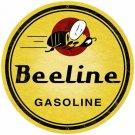 "BEELINE GASOLINE ROUND METAL SIGN 28"""
