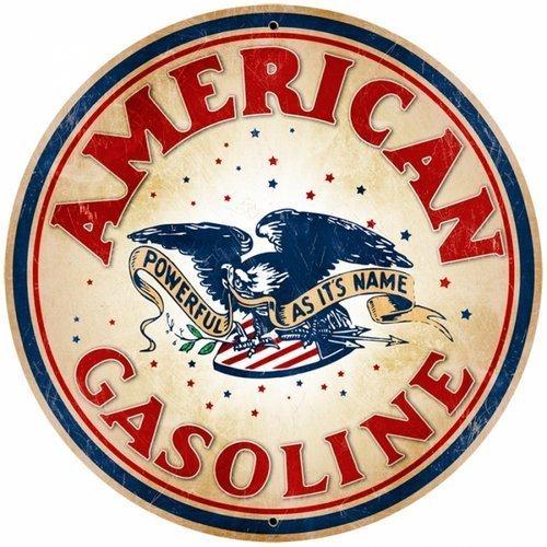 AMERICAN GASOLINE HEAVY METAL SIGN