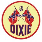 DIXIE ROUND HEAVY METAL SIGN
