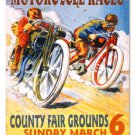 MOTORCYCLE RACES LARGE METAL SIGN