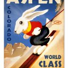 ASPEN COLORADO WORLD CLASS SKIING METAL SIGN