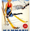 SKI MAMMOTH CALIFORNIA HEAVY METAL SIGN