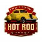 HOT ROD GARAGE PARTS SERVICE CUSTOM METAL SIGN