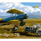 """TWO WAYS TO FLY VINTAGE STYLE SIGN 18"""""""