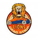 LIONS DRAG STRIP CUSTOM METAL SIGN