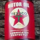 TEXACO MOTOR OIL METAL HALF CAN FACE SIGN