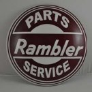 RAMBLER PARTS SERVICE HEAVY METAL DOME SIGN NEW