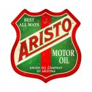 ARISTO MOTOR OIL RETRO METAL SHIELD SHAPE SIGN