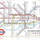 London Underground Info map HEAVY METAL SIGN old look