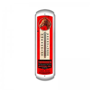 THOROBRED MOTOR OIL LARGE METAL THERMOMETER