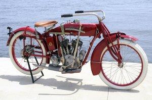 VINTAGE INDIAN RED MOTORCYCLE