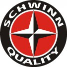 "SCHWINN QUALITY HEAVY ROUND BAKED ENAMEL SIGN 25.5"" NEW"