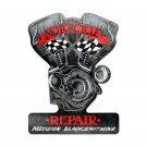MOTORCYCLE REPAIR PRECISION BLACKSMITHING CUSTOM METAL SHAPE SIGN