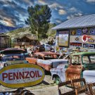 PENNZOIL JUNKYARD STORE HEAVY METAL SIGN