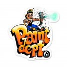 PAINT DEPT METAL SIGN