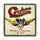CYCLONE MOTORCYCLE SPEED SENSATION 1915 HEAVY METAL SIGN