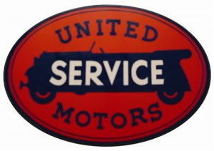 UNITED SERVICE SIGN HEAVY METAL SIGN