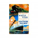 SR RAILWAY WHITE STAR SHIP HEAVY METAL SIGN