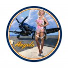 ANGELS CORSAIR AIRPLANE LARGE HEAVY METAL SIGN