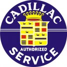 CADILLAC SERVICE ROUND SIGN HEAVY METAL SIGN 42 INCH