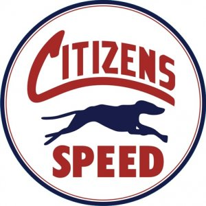 CITIZENS SPEED HEAVY ROUND STEEL SIGN 25.5