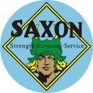 SAXON MOTORCARS HEAVY ROUND STEEL SIGN 25.5