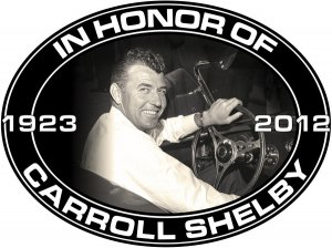 CARROLL SHELBY MEMORIAL OVAL SIGN MAN CAVE HOME GARAGE SHOP DECOR
