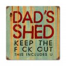 DADS SHED HEAVY METAL SIGN