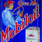 MOBILOIL A HEAVY METAL RECTANGLE SIGN