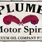 PLUME MOTOR SPIRIT HEAVY METAL RECTANGLE SIGN