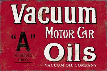 VACUUM MOTOR CAR OILS HEAVY METAL SIGN