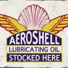AEROSHELL LUBRICATING OIL HEAVY METAL SIGN