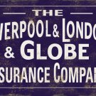 LIVERPOOL LONDON GLOBE INSURANCE COMPANY HEAVY METAL SIGN