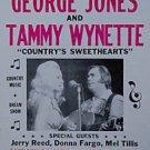 GEORGE JONES TAMMY WYNETTE POSTER knoxville tenn 1973 heavy paper CARDSTOCK